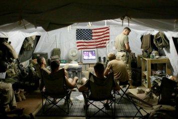 American soldiers at Bagram Air Base, north of Kabul, in 2002.